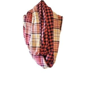 Loft double sided infinity scarf coral black